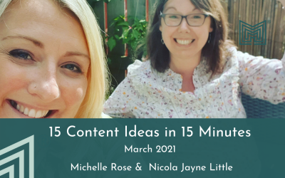 Marketing: 15 Content Ideas in 15 minutes, Mar